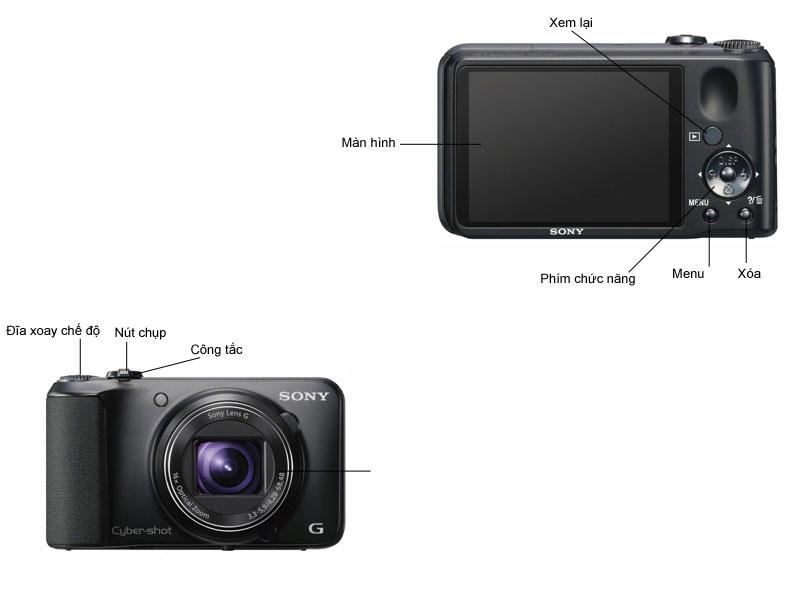 Máy ảnh Sony DSCH90 - Đen