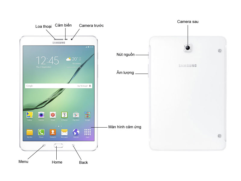 Samsung Galaxy Tab S2 8.0 inch - T715 - Vàng
