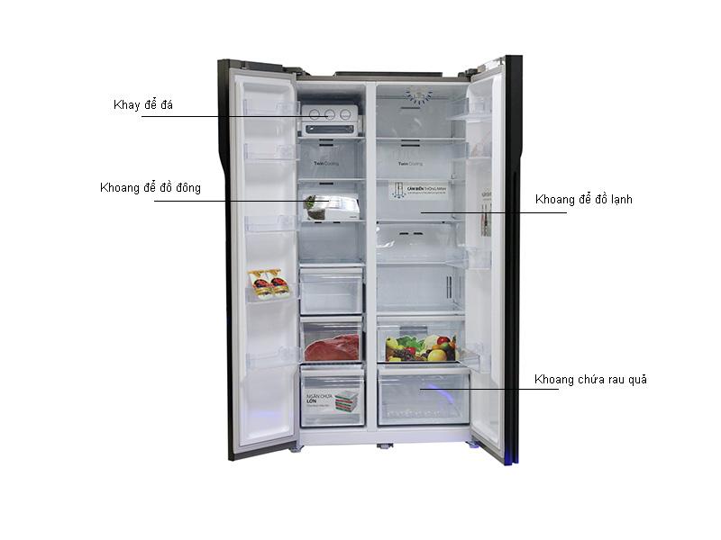 Tủ Lạnh SBS Samsung RS552NRUA9M/SV