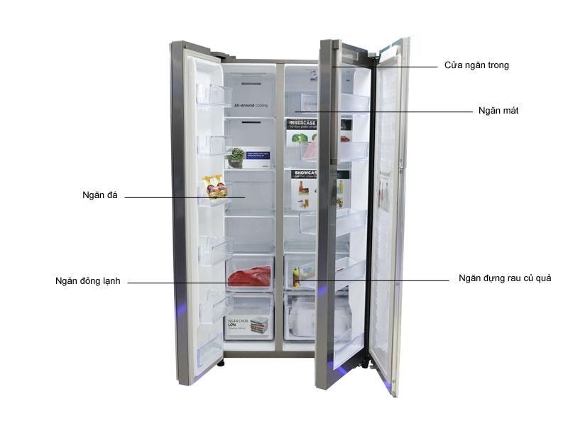 Tủ lạnh  Inverter SBS Samsung RH60J8132SLSV