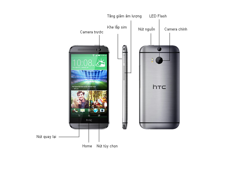 HTC One M8 Eye - Sliver