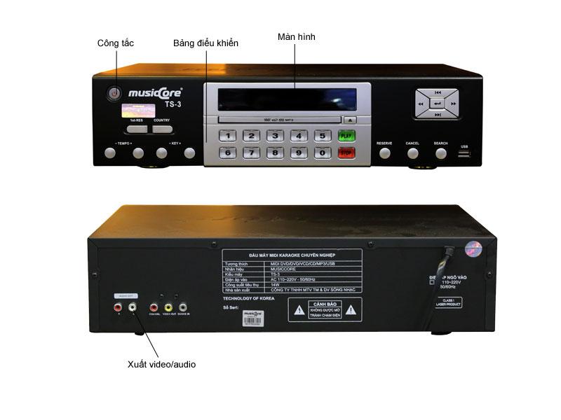 Đầu MIDI Karaoke MUSICCORE TS-3