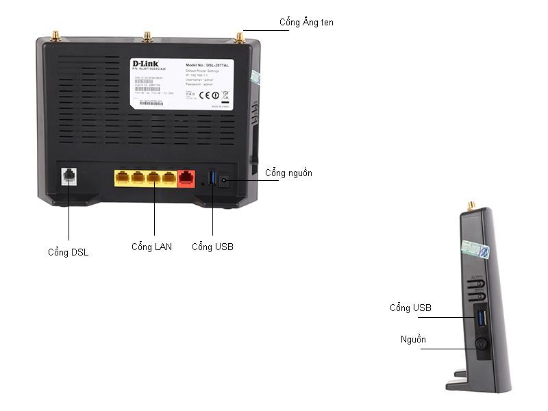 Bộ phát wifi Dlink DSL-2877AL