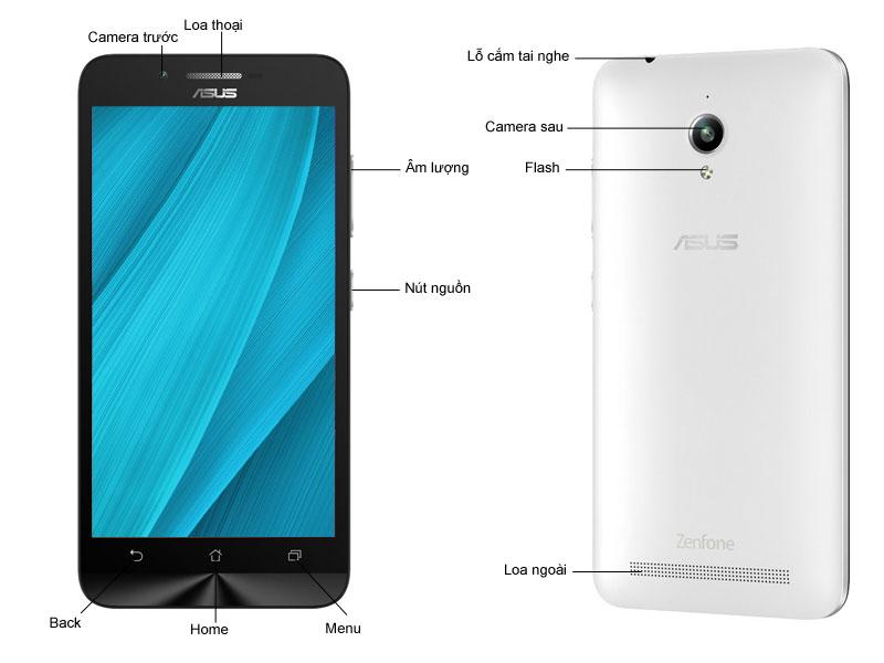 Asus Zenfone Go ZC500TG - trắng