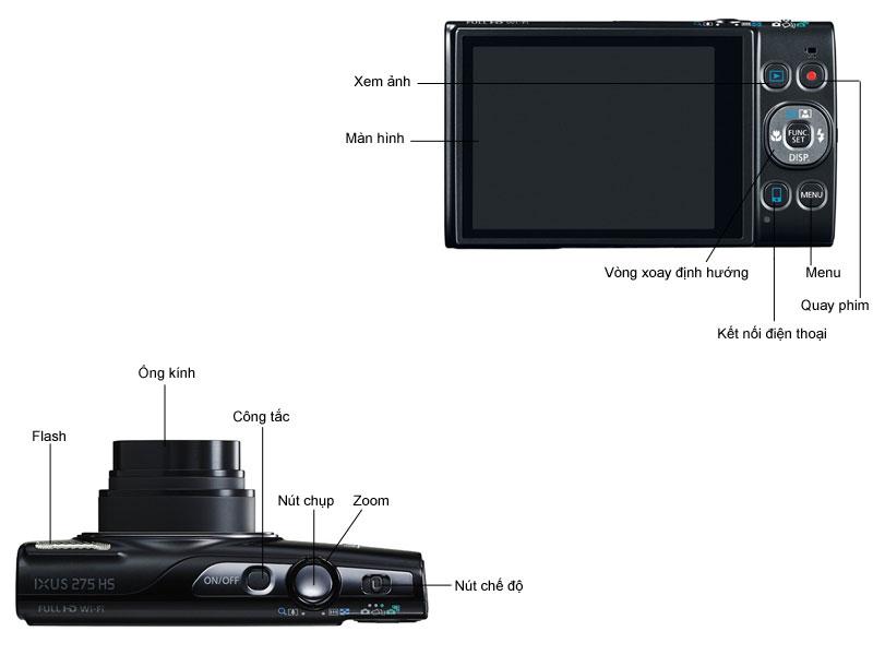 Máy ảnh Canon Ixus275 - Bạc