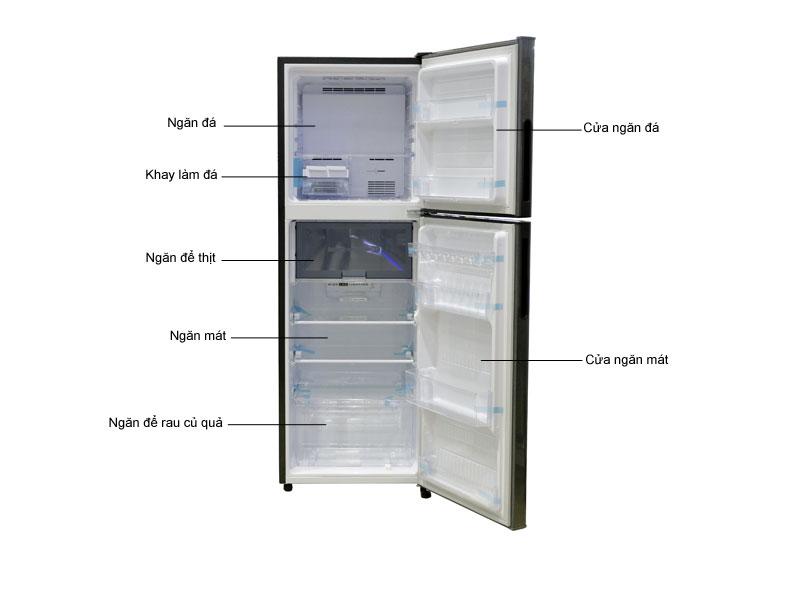 Tủ lạnh Sharp SJS280ESL - BạcTủ lạnh