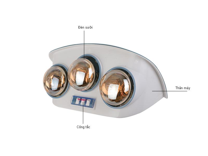 Đèn sưởi nhà tắm SANAKY SNK3B