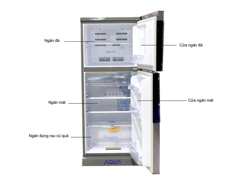 Tủ lạnh Aqua AQRS185BNSN - Màu bạc