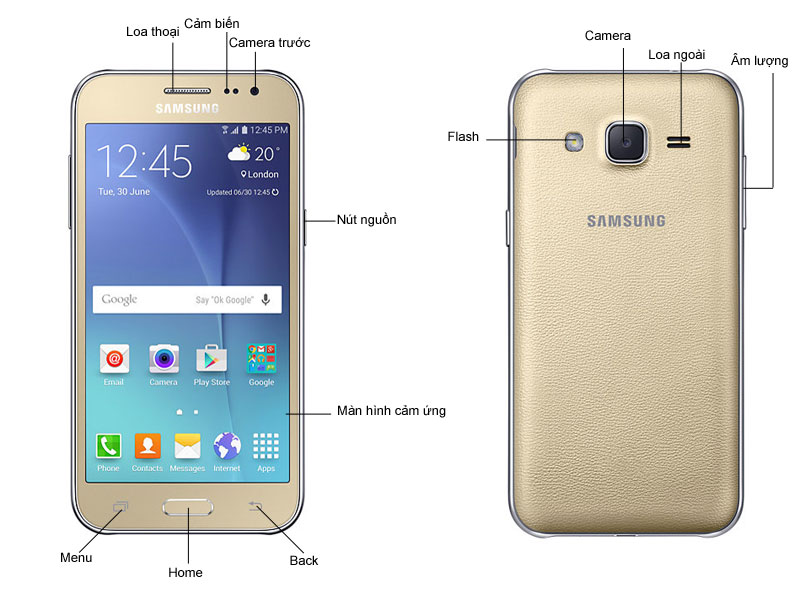 Điện thoại di động Samsung J200GU Đen - GalaxyJ2