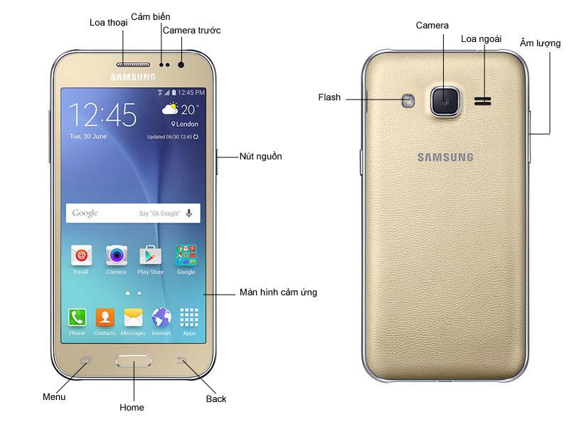 Samsung Galaxy J2- Vàng