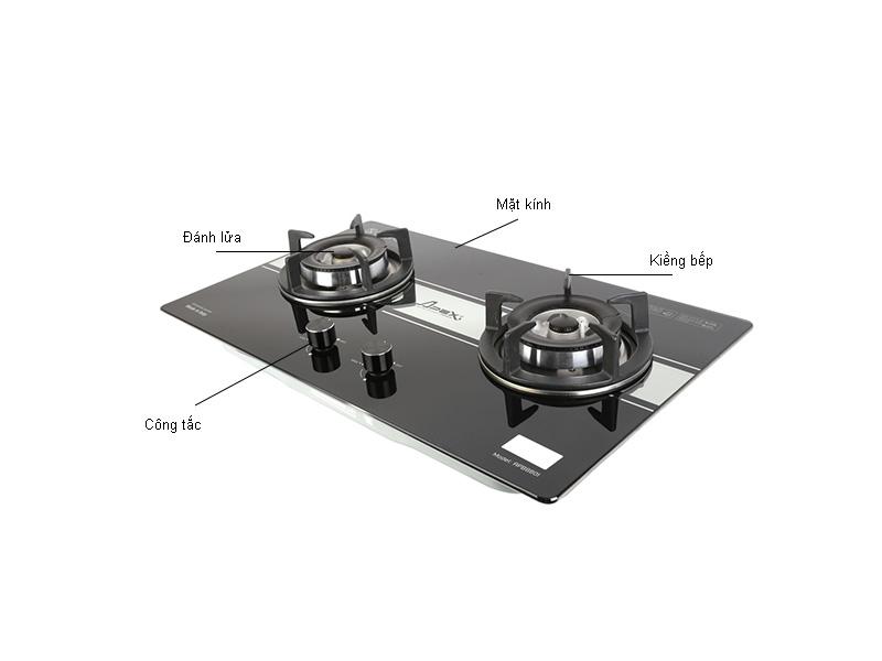 Bếp gas âm kính cao cấp Apex 2 lò APB8801