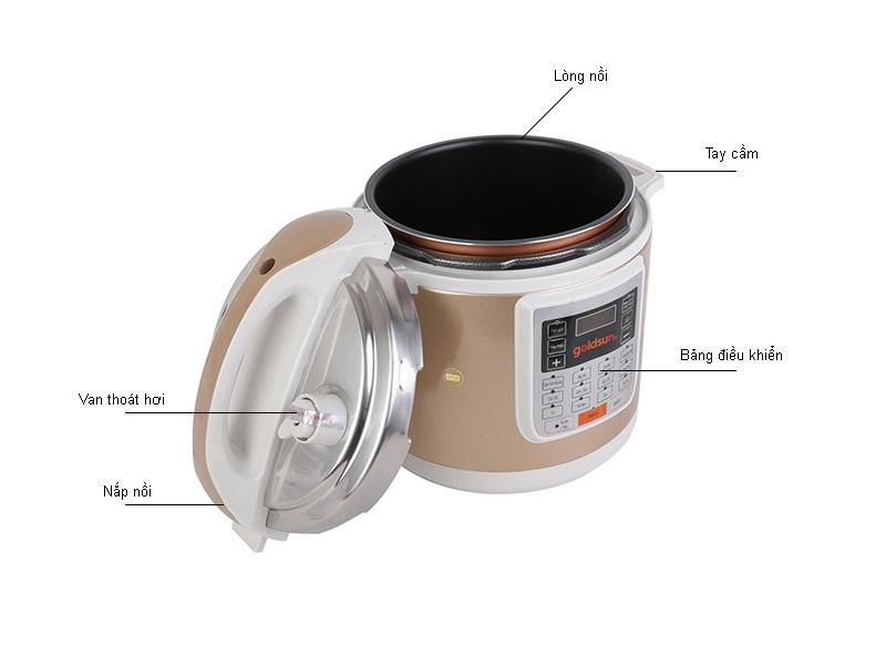 Nồi áp suất điện tử Goldsun - EPGDGEDG60