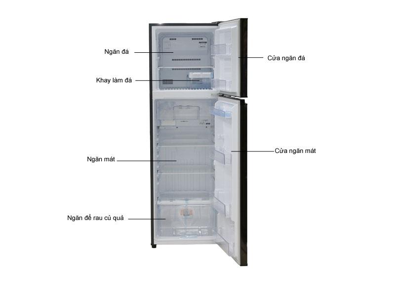 Tủ lạnh Inverter MITSUBISHI MRFV28EJBRV