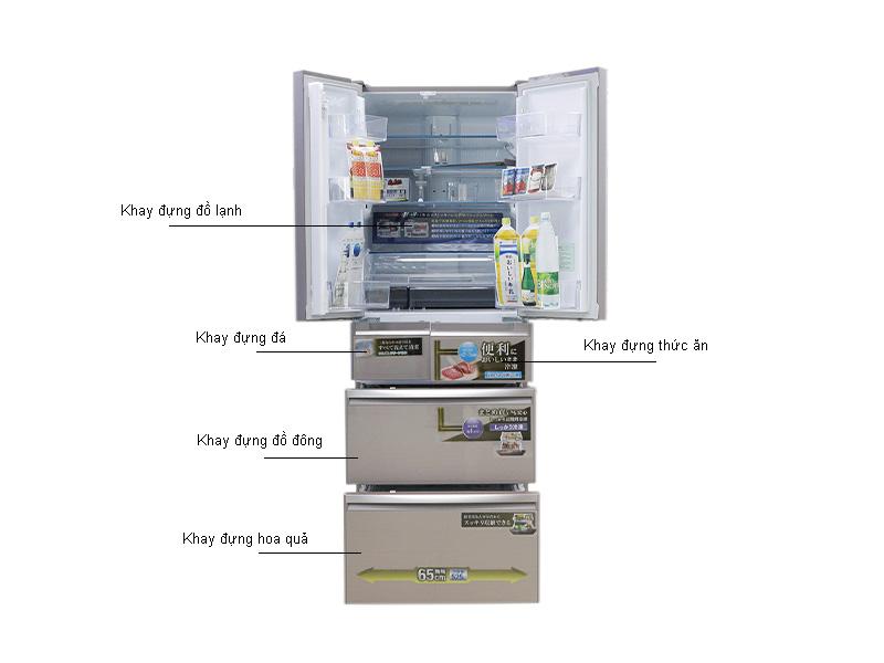 Tủ Lạnh Inverter Mitsubishi MRWX53YPV Hồng Ánh Kim