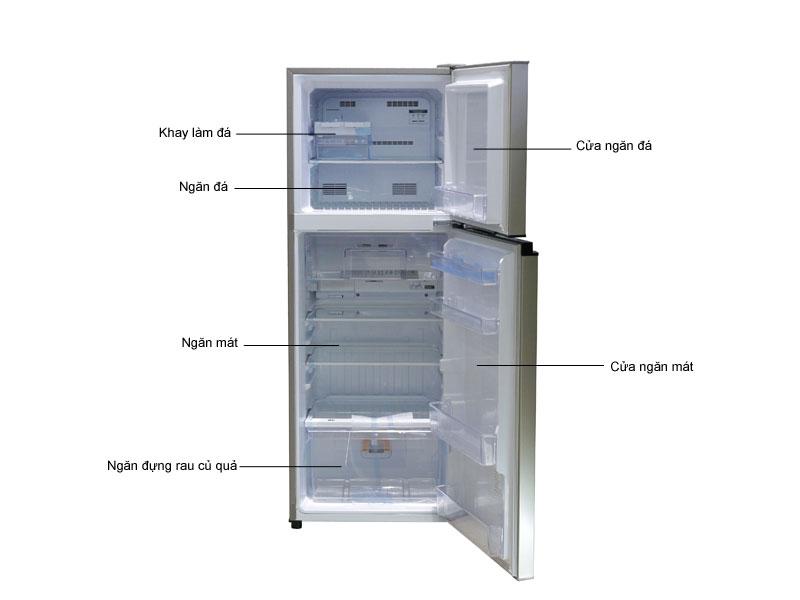 Tủ lạnh Inverter MITSUBISHI MRFV32EJPSV - Bạc