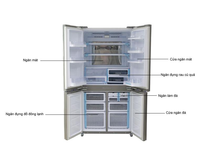 Tủ lạnh Inverter Sharp SJFX680VWH - Trắng