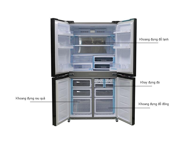 Tủ Lạnh Sharp SJ-FX680V-ST 605L Inverter