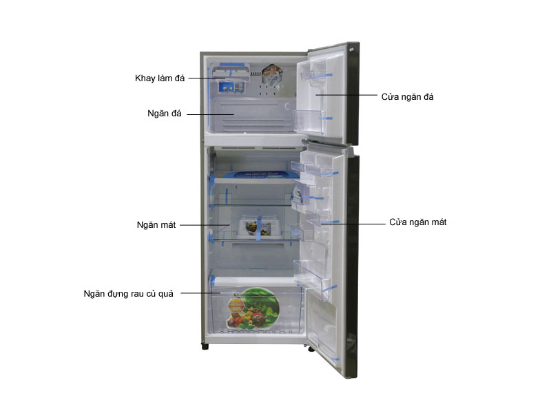 Tủ lạnh Toshiba GRT46VUBZDS1 Inverter - Màu ghi