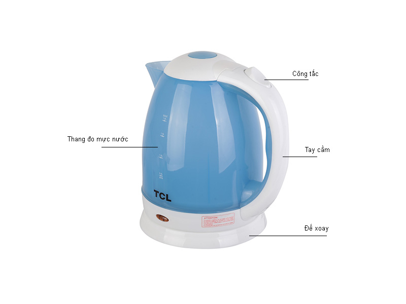 Ấm siêu tốc TCL TAG18A - Xanh trắng
