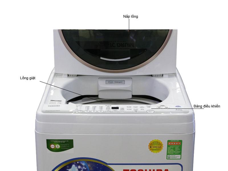 Máy giặt Toshiba AWMF920LVWK - Đen