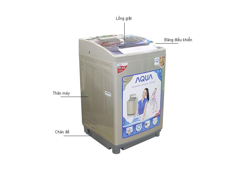 Máy giặt Aqua AQWF125ZTN - Màu Đồng