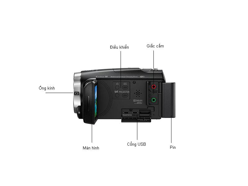 Máy quay phim Sony HDR-PJ675E - Đen
