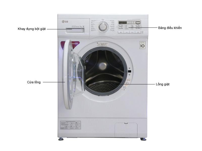Máy giặt LG F1207NMPW - Trắng