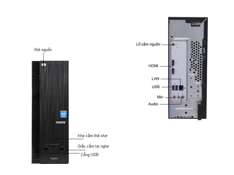 Máy tính để bàn Acer Aspire XC704N3050