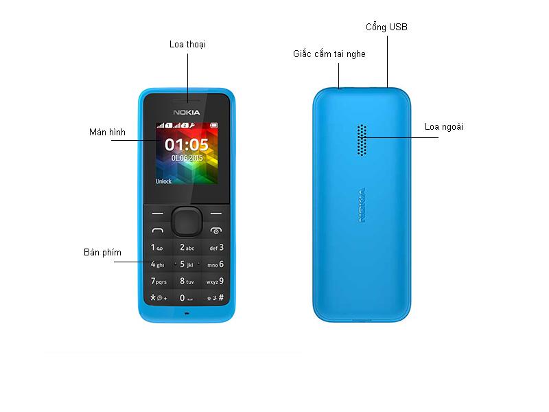 Điện Thoại Nokia N105SS Xanh Đen