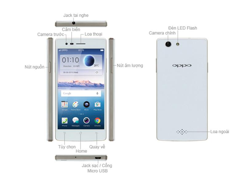 Điện thoại Oppo Neo 5 1201 16GB Màu Đen