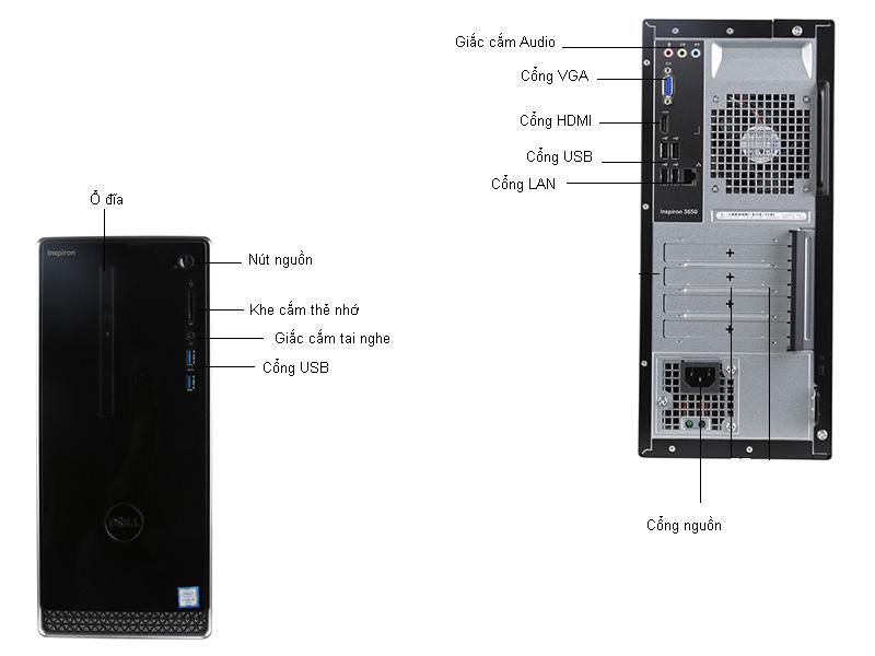 Máy tính để bàn Dell Inspiron 3650