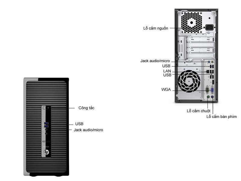 Máy tính để bàn HP ProDesk HP400G3-T8V64PA