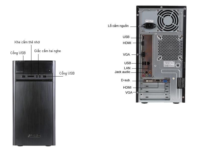 Máy tính để bàn Asus K31ADVN044D