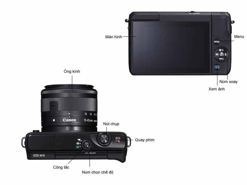Máy ảnh Canon EOSM10