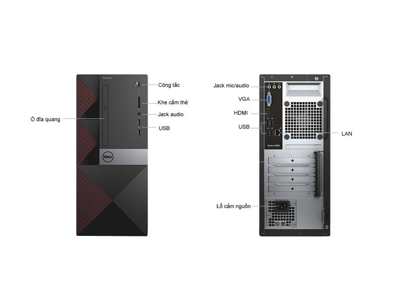 Máy tính để bàn Dell Vostro V3650MTPYYPD1