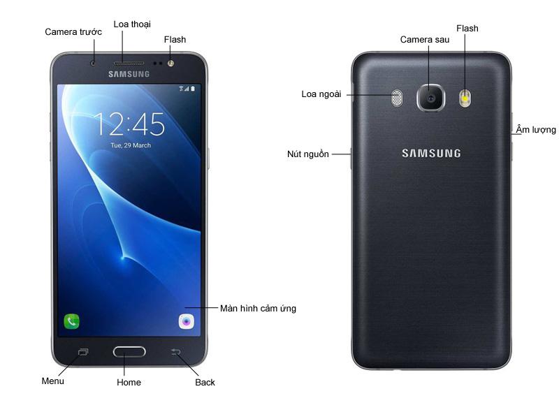 Điện thoại Samsung Galaxy J5 - Vàng kim
