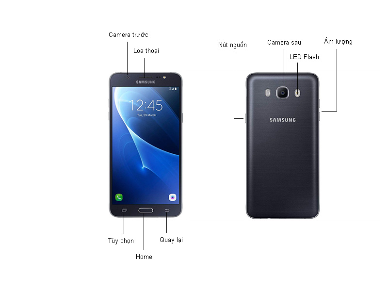 Điện thoại Samsung Galaxy J7  - Vàng kim