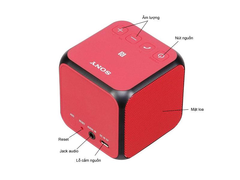 Loa Bluetooth Sony SRSX11R-Màu đỏ