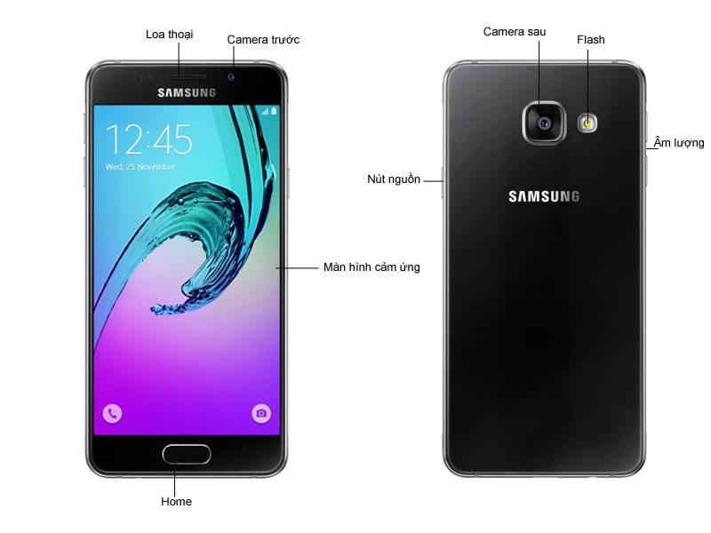 Điện thoại Samsung Galaxy A3 SSA310B - Màu Đen