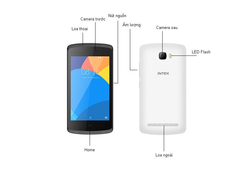 Điện thoại Wiko Intex Aqua Lite - Màu trắng