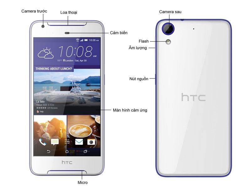 Điện thoại HTC Desire 628 - Màu trắng