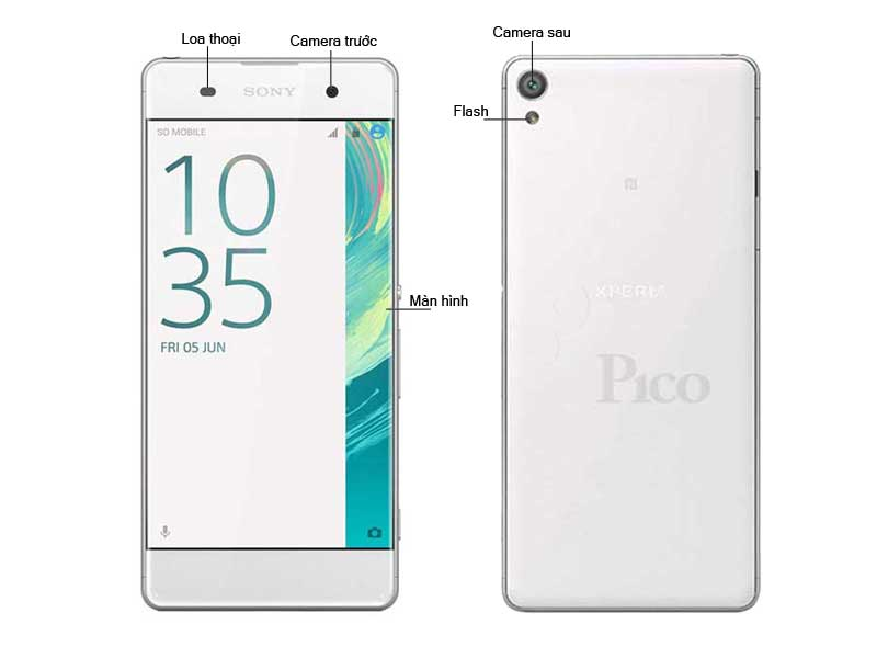Điện thoại Xperia X F5122W - Màu trắng