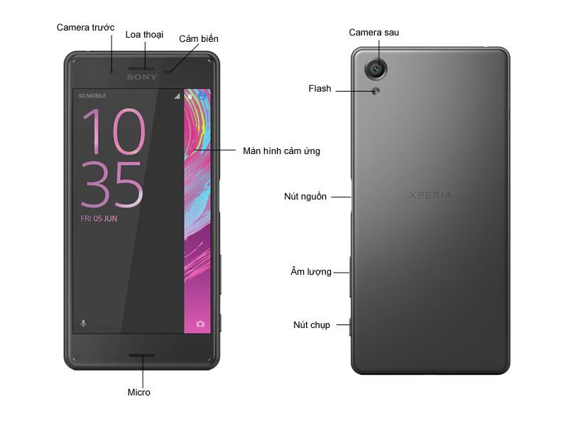 Điện thoại Xperia X F5122B - Màu đen