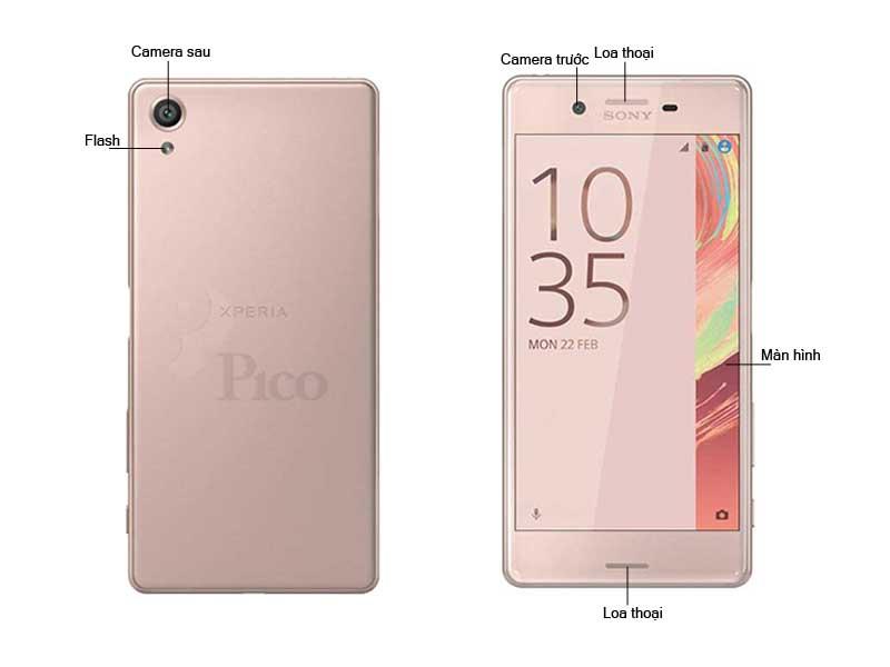 Điện thoại Xperia X F512SG - Màu vàng Sakura
