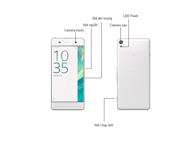 Điện thoại Xperia XA F3116W - Màu trắng