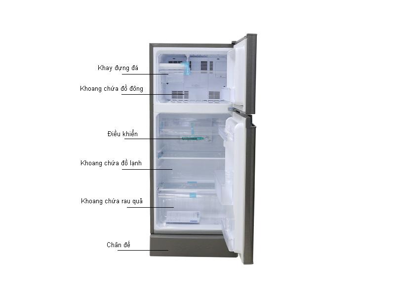 Tủ lạnh Sharp SJ175EDSS - Màu bạc