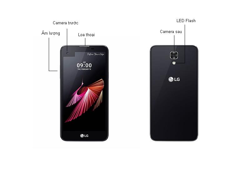 Điện thoại LG X-screen K500B - Màu đen