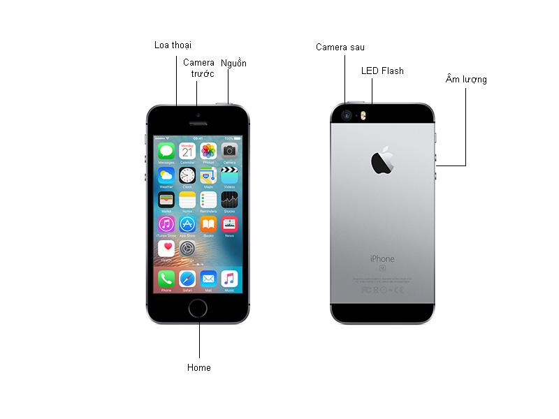 Điện thoại Apple Iphone SE MLLN2 - Màu đen