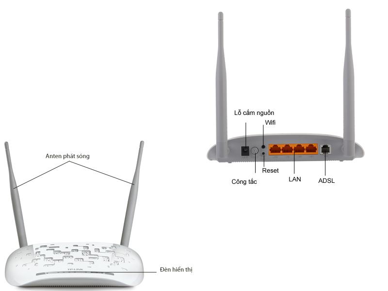 Modem Tplink TD-W8961N Router Wi-Fi ADSL2+ chuẩn N 300Mbps