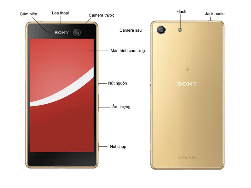 Điện thoại Sony Xperia M5 E5653 - Màu Vàng